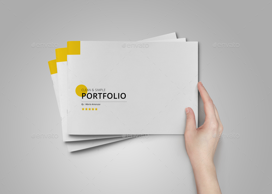minimal brochure or portfolio or catalog