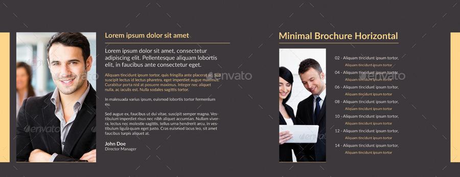 minimal horizontal brochure