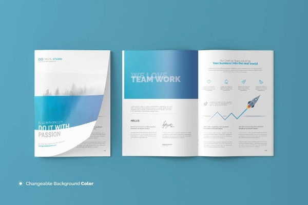 minimalist a4 brochure or catalog mockup