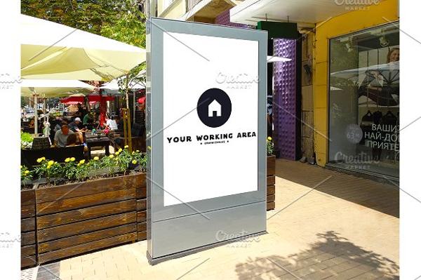 minimalist street billboard mock up example