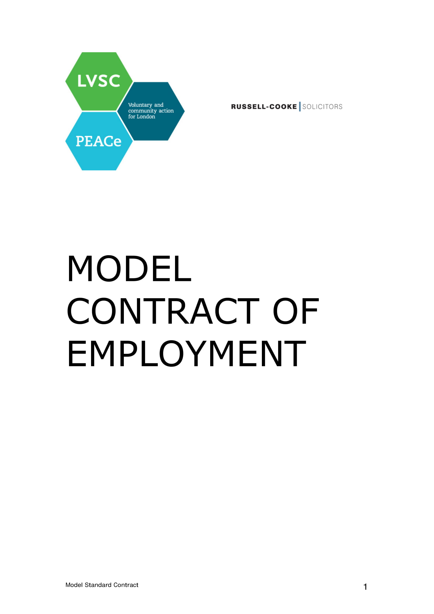 model contract of employment
