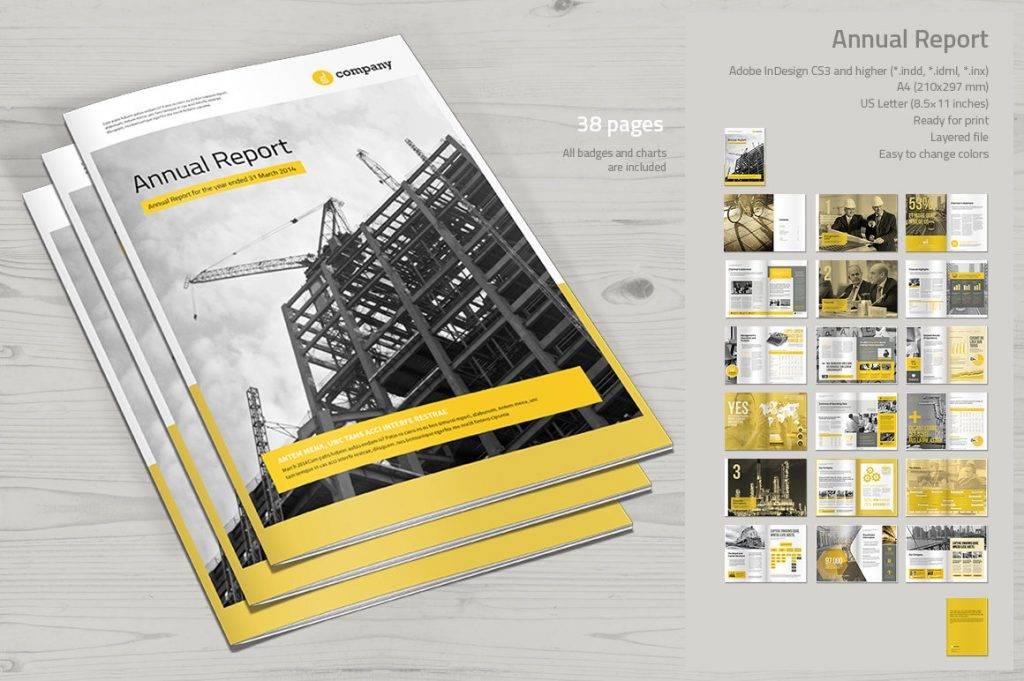 modern annual report print template