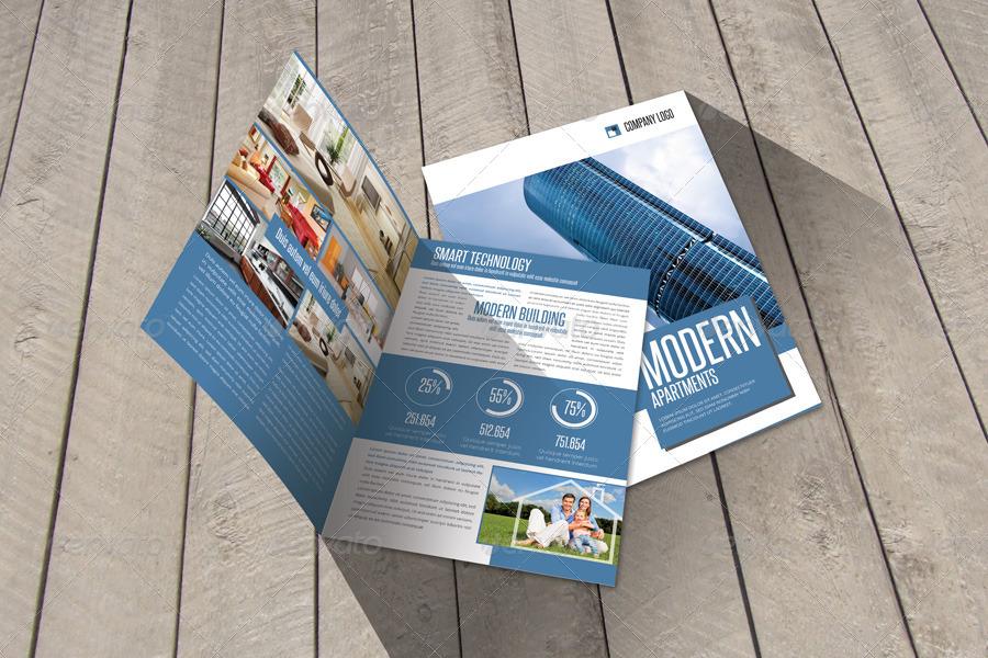 modern bi fold brochure example