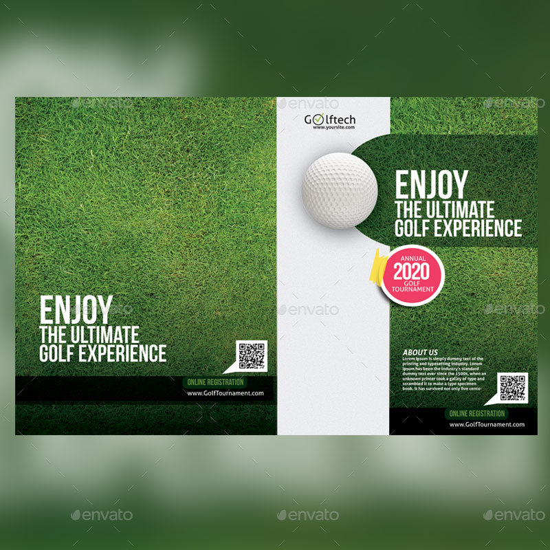 modern and fully editable golf tournament brochure