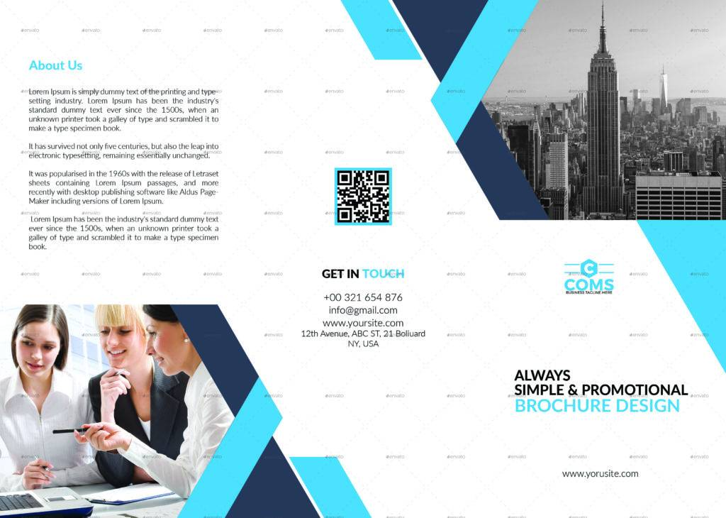modern and professional trifold brochure
