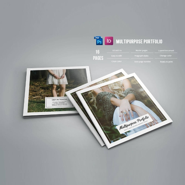 multipurpose square brochure template