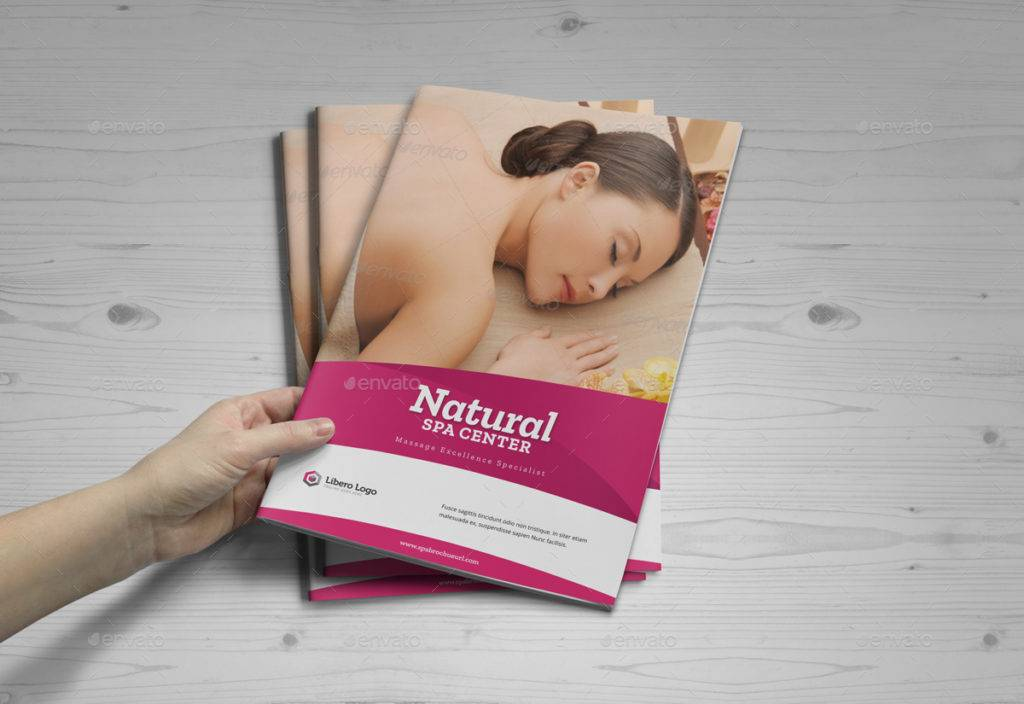 natural spa center sample booklet brochure example