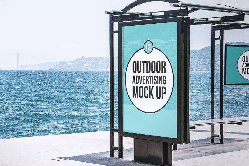 outdoor advertising mock up