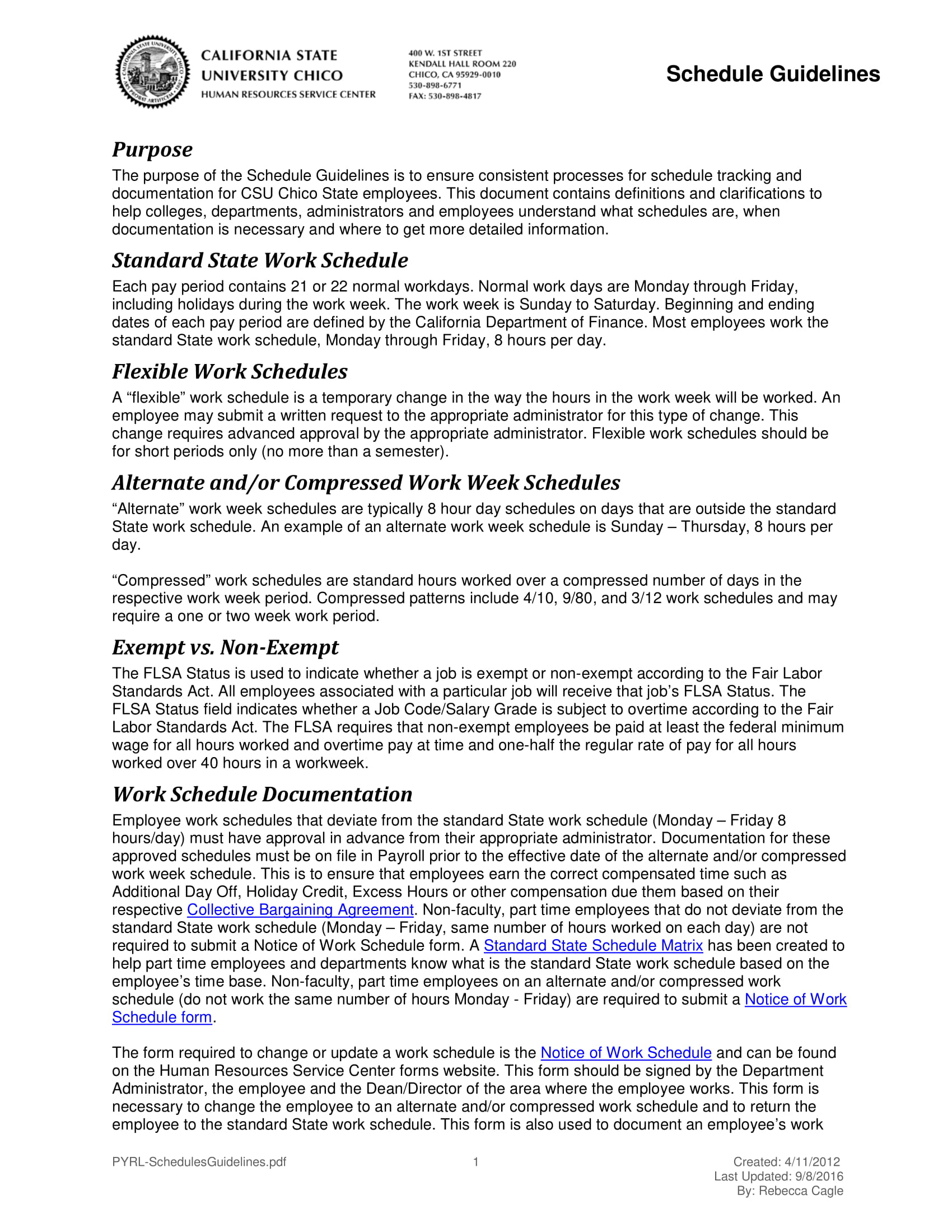 10 employee work schedule examples pdf