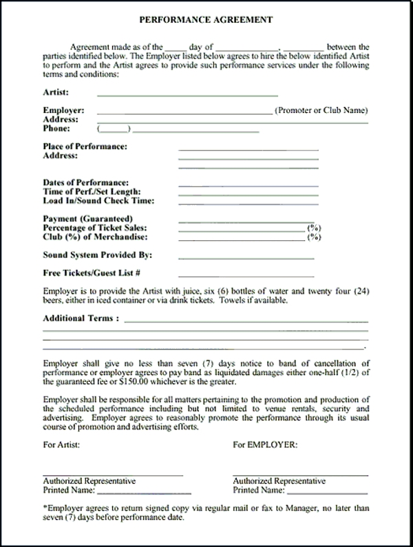 9 Band Contract Examples Pdf Word Google Docs Examples
