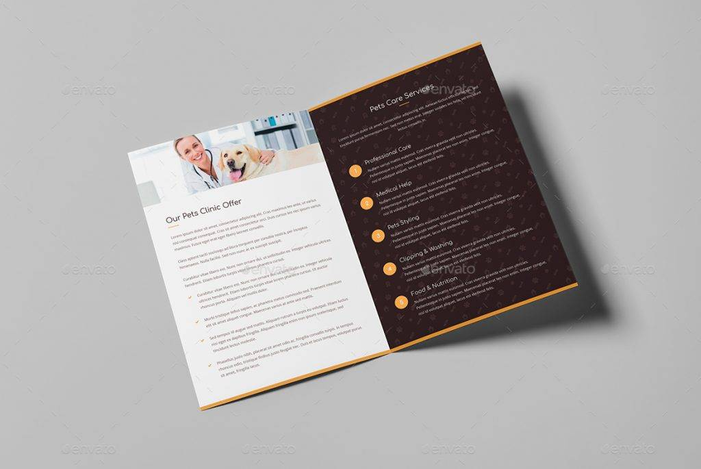 pet care dog show brochure template example