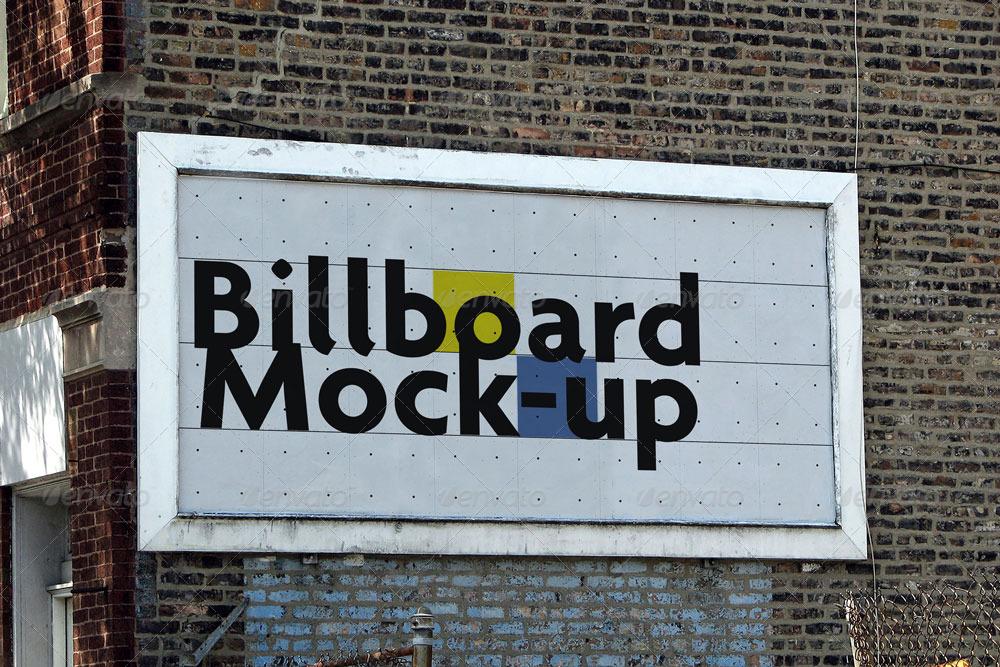 photo realistic billboard mock up