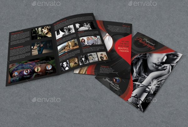 photography bifold brochure design
