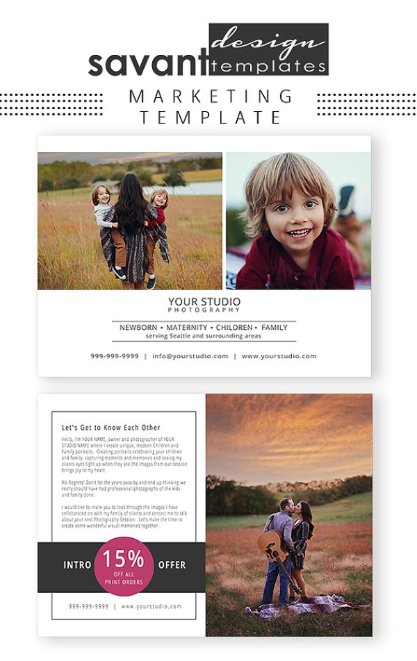photography studio brochure marketing template
