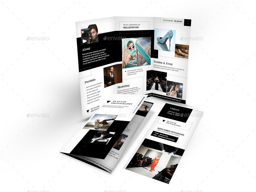 photography studio trifold brochure