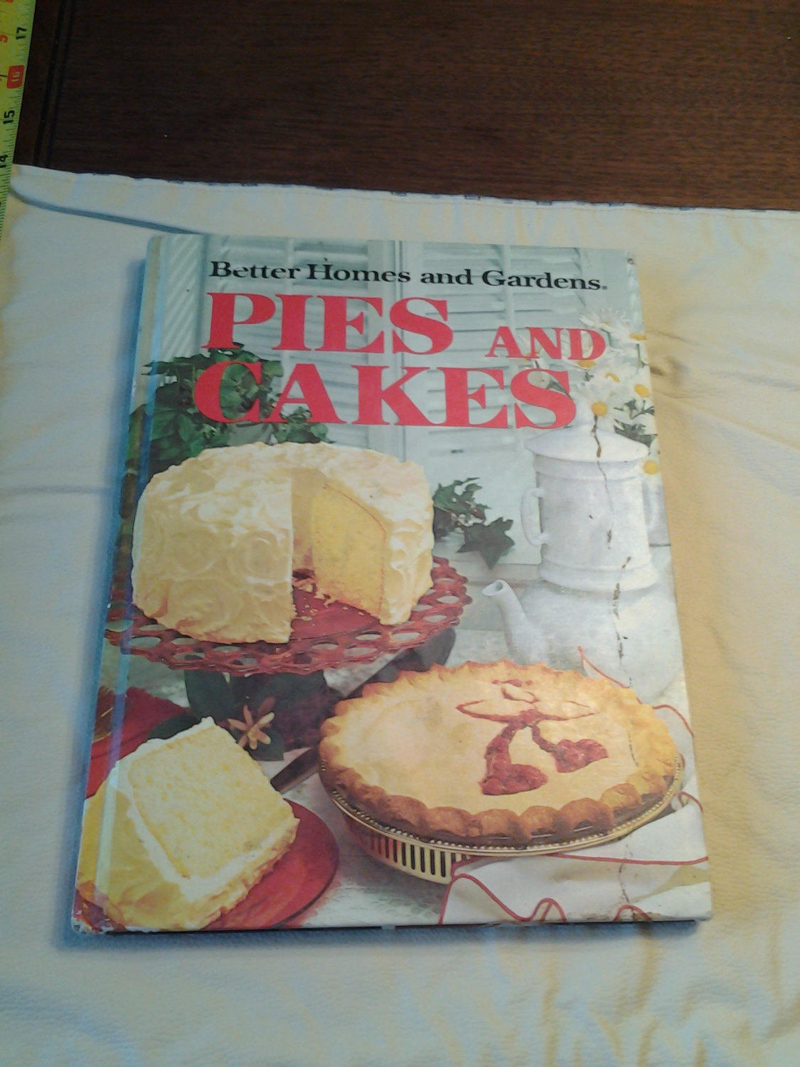 pies and cakes cookbook design example