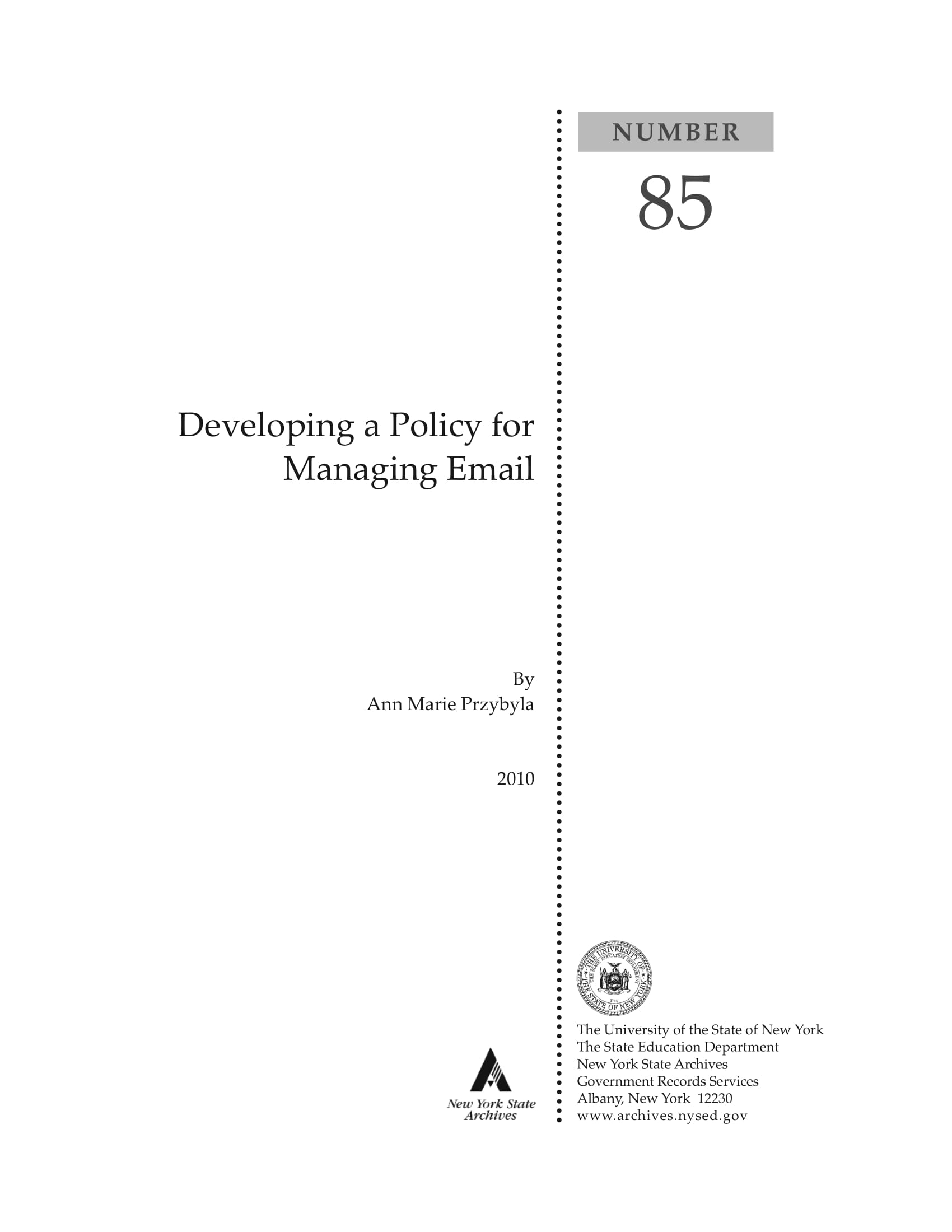 policy for managing employee email example