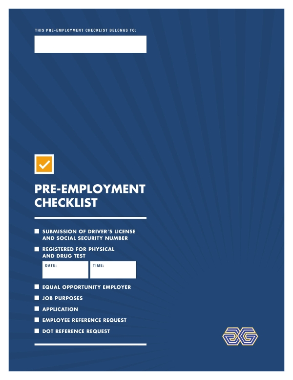 pre employment checklist example1