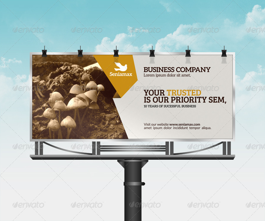 print ready corporate billboard example