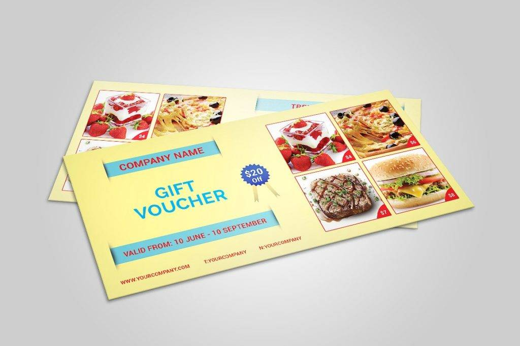 printable food gift voucher example
