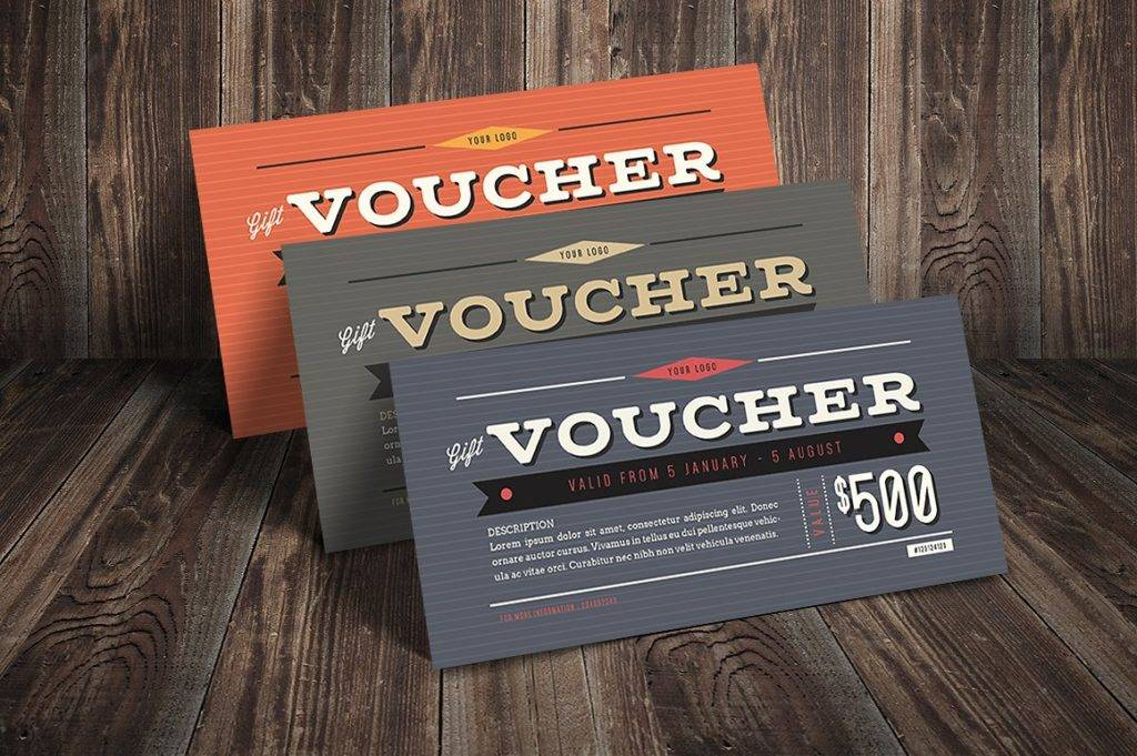 printable vintage hipster voucher example