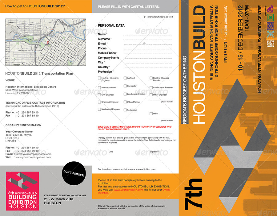 professional exhibition trifold brochure