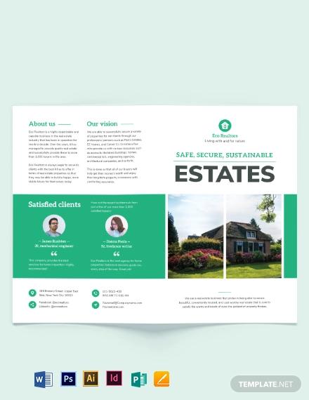 professional home inspector bi fold brochure template