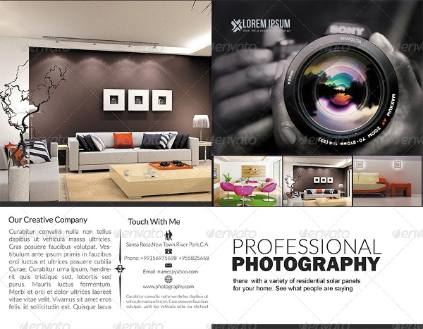 professional photography brochure