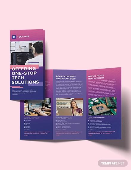 professional services tri fold brochure template