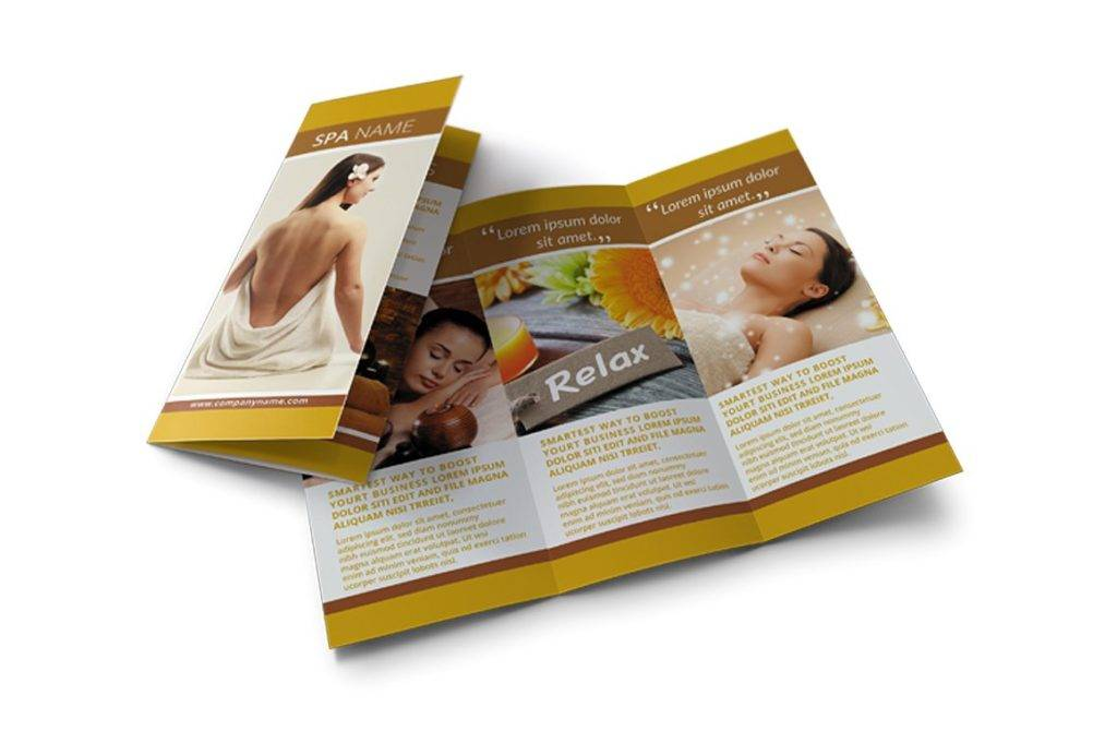 professional spa trifold brochure