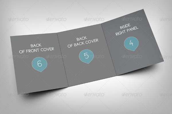 professional tri fold brochure mockup