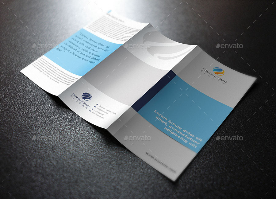 professional trifold brochure template design