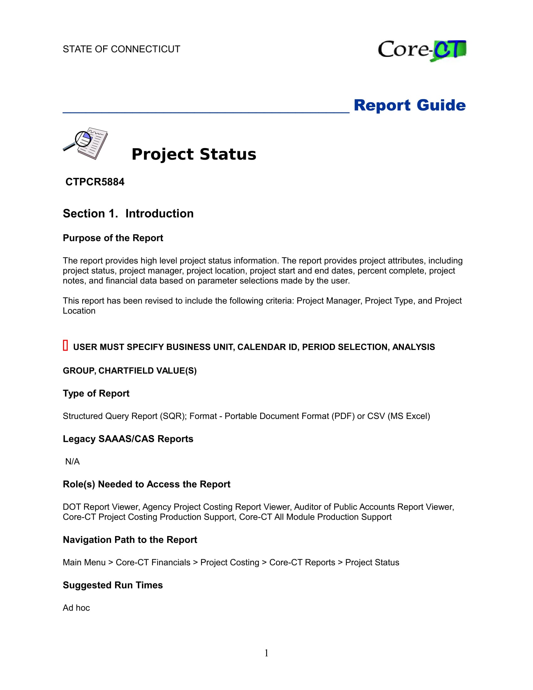 project status report guide example