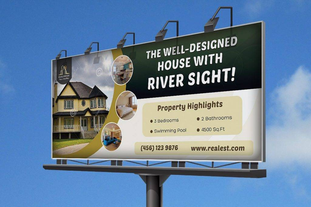 real estate billboard design example