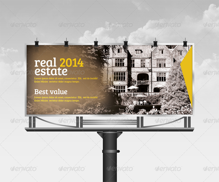 real estate billboard roll up