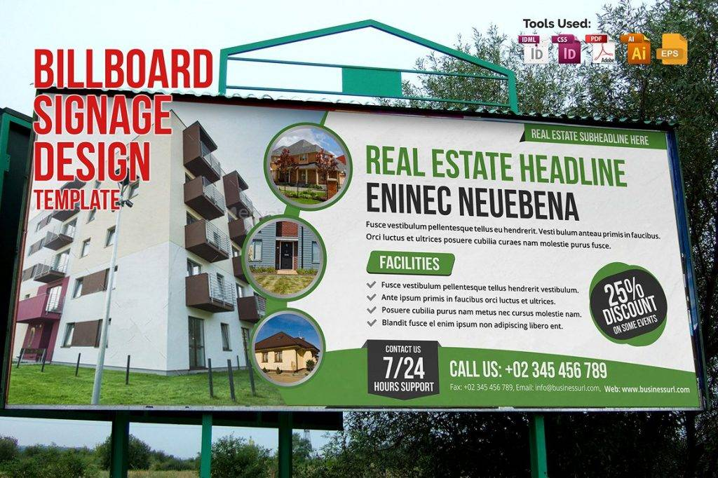 real estate billboard signage design