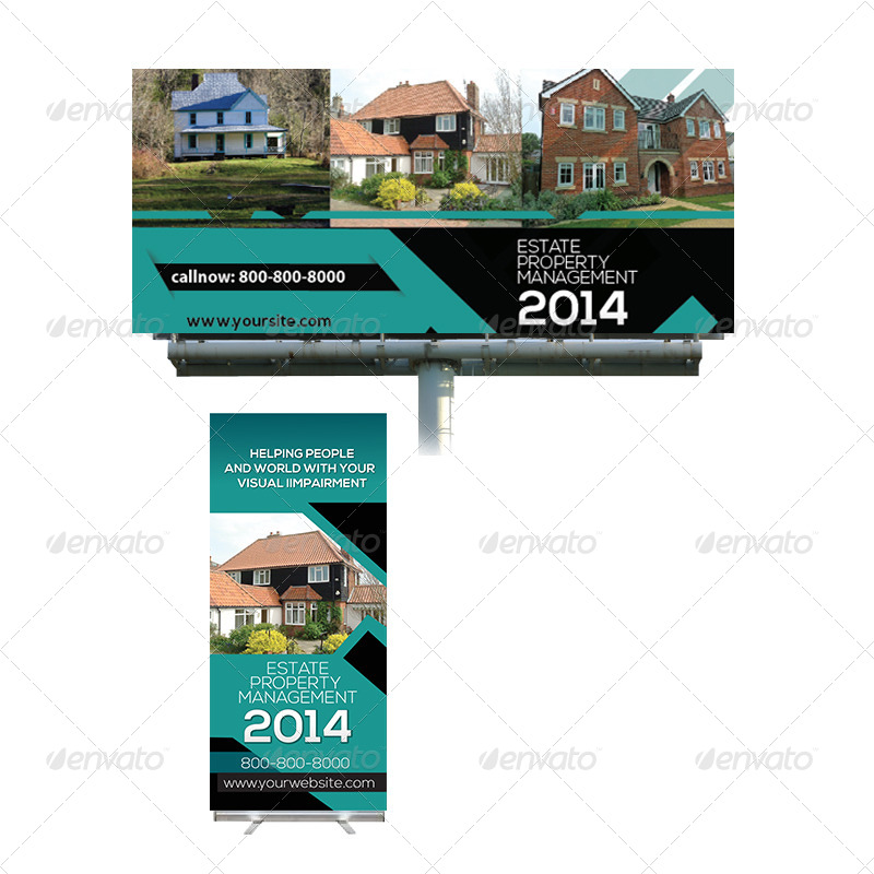 real estate billboard and roll up banner design