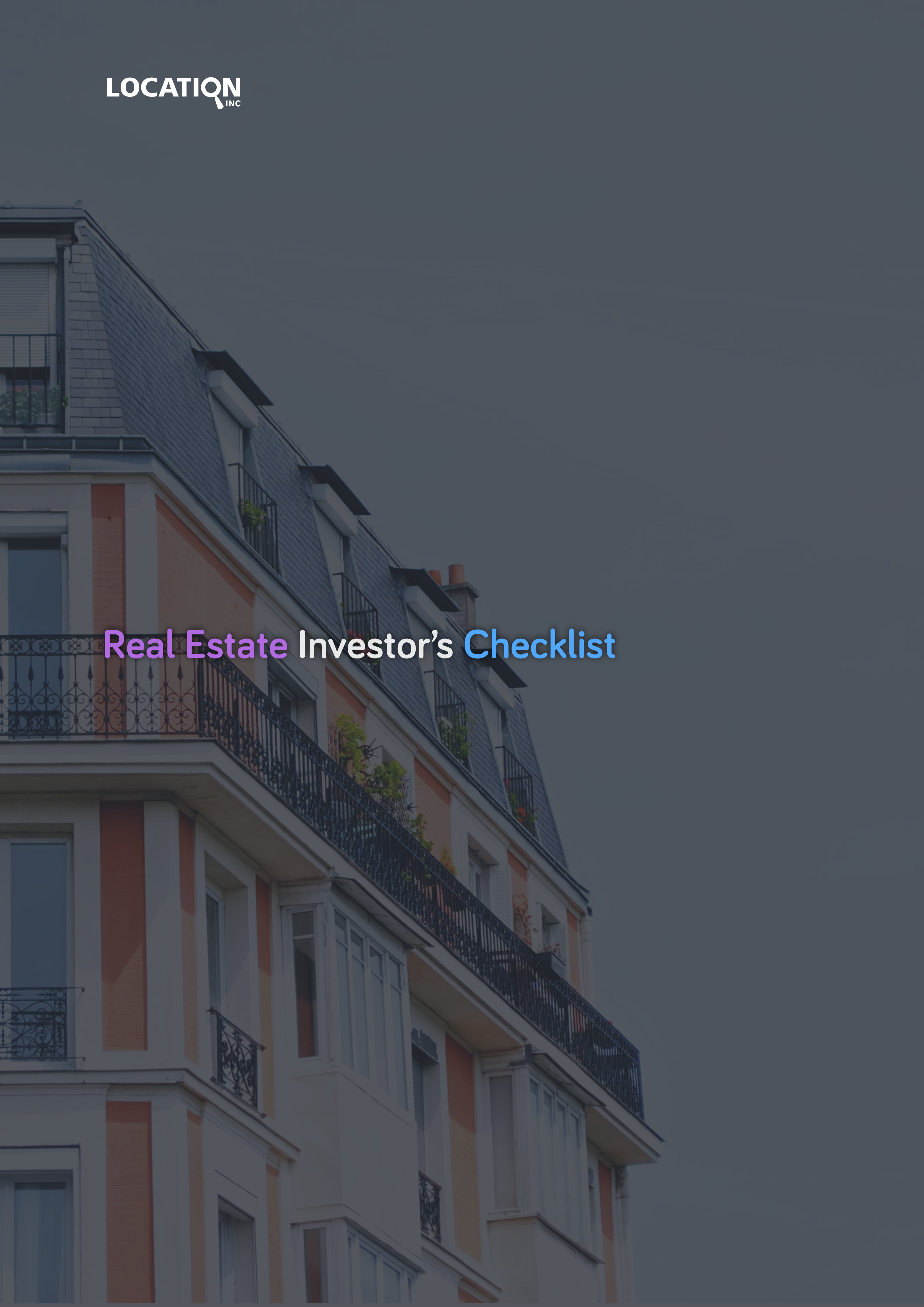 real estate investors investment checklist