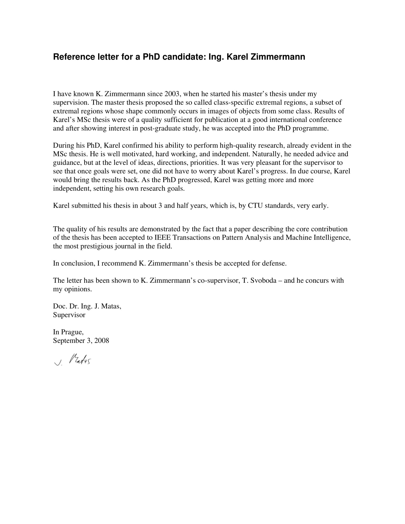 reference letter for a phd candidate