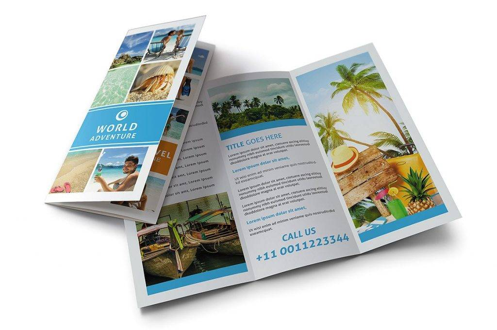 resort professional trifold brochure