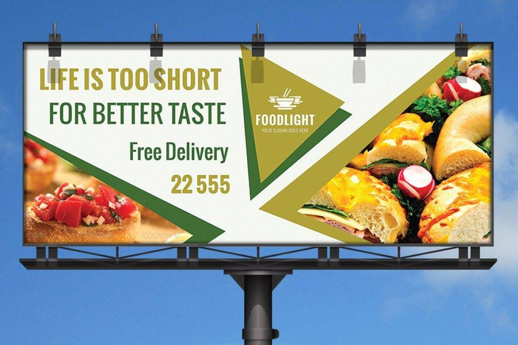restaurant billboard design example