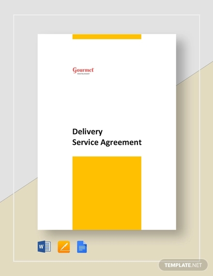 restaurant delivery service agreement