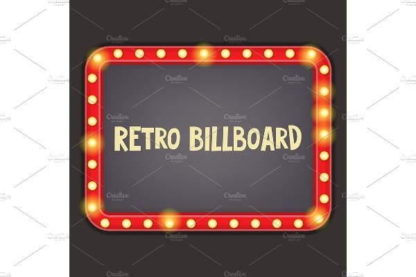 retro billboard illustration