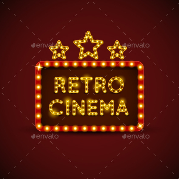 retro cinema billboard