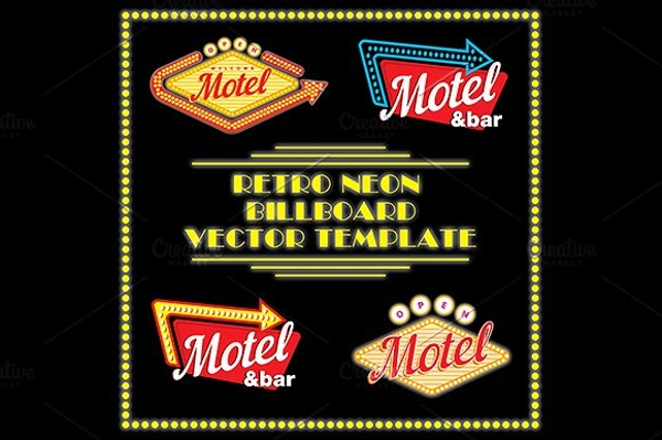 retro neon motel billboard1
