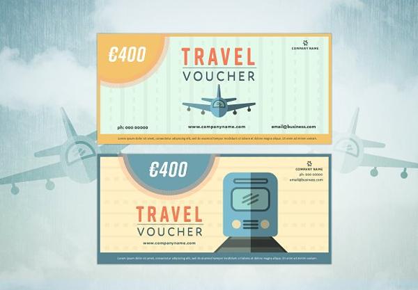 retro travel voucher example