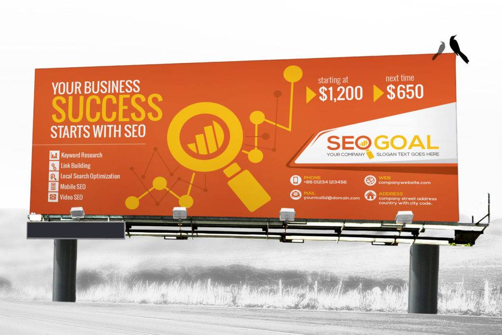 seo billboard design example