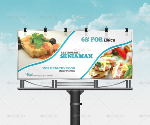 sample restaurant billboard template