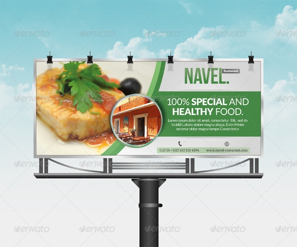 sample restaurant billboard