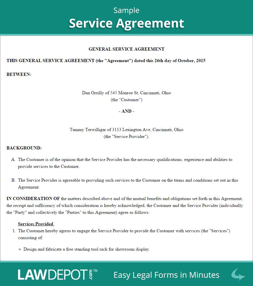sample service agreement 3